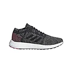 These women's running shoes support an easy, unrestricted stride on city streets with a minimalist knit upper and energy-returning Boost cushioning underfoot. A heel plate offers support while a flexible outsole allows your to splay naturally...