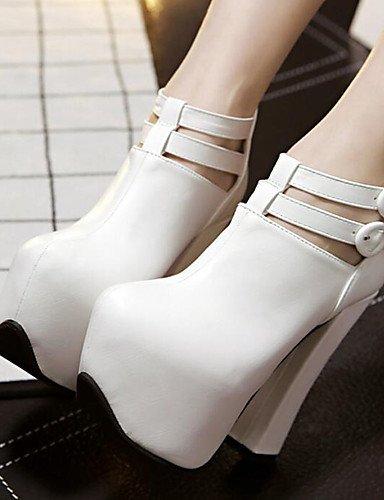 amp; Soirée Femme us5 Blanc talons Talon bottes Eu36 Black Uk3 5 habillé Chaussures 5 Evénement Cn35 polyuréthane noir Ggx gros IFqwRC5