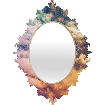 Deny Designs Shannon Clark Cosmic Baroque Mirror, 29 x 22 - Baltic birch ply frame and high gloss aluminum printed front with UV resistant coating Quality glass mirror Mounting hardware included - bathroom-mirrors, bathroom-accessories, bathroom - 41bWnlZE20L. SS400  -