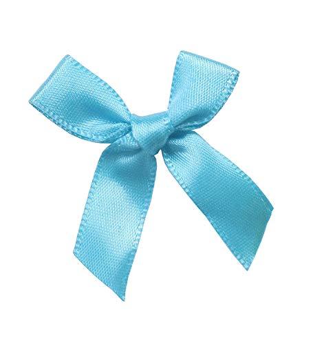 YAKA 100Pcs Mini Satin Ribbon Bows Flowers 1