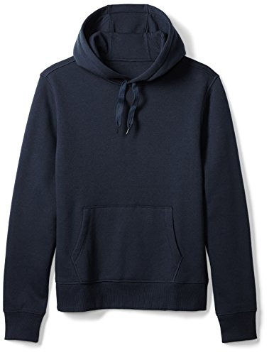 Amazon Essentials Men's Hooded Fleece Sweatshirt, Navy, Large