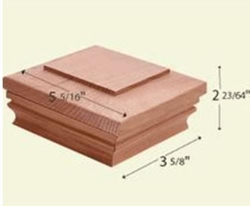 Bw Creative Wood Ce9907000w Nantucket Cedar Flat Post Cap (Pack of 12) ()