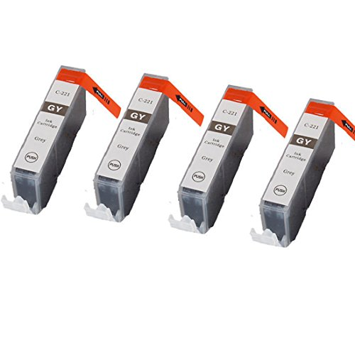 YATUNINK(TM) 4 PACK CLI-221 GRAY/GREY Ink Tank for Canon PIXMA IP3600 IP4600 MP620 MP980 MX860 MP560