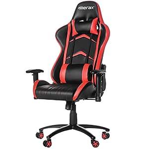 Amazon Com Merax Racing Style Pu Leather Office Chair 180