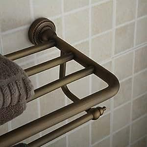Aceitado bronce 24 pulgadas ba o estante con toallero de for Toallero bronce