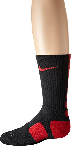 Nike Dri-FIT Elite Crew Basketball Socks Black/Varsity Red/Varsity Red Size Small (Gold And Black Nike Elite Socks)