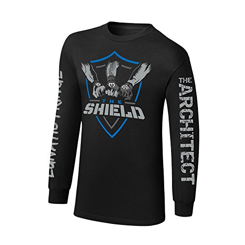 WWE The Shield Shield United Long Sleeve T-Shirt Black Small by WWE Authentic Wear