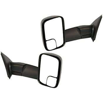 02-09 Ram Pickup Truck Manual Fold Towing Side View Mirror Right Left  Set PAIR