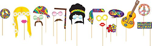 Seventies Fancy Dress (Groovy Fancy Party Dress 60s 70s Hippy Flower Power Hippie Decor Photo Booth)