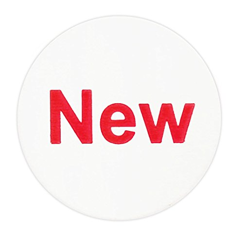 """3/4"""" White """"NEW"""" Circle Dot Labels 