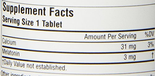 Source Naturals Melatonin 3mg - Sustained Release - 120 Tablets by Source Naturals (Image #2)'