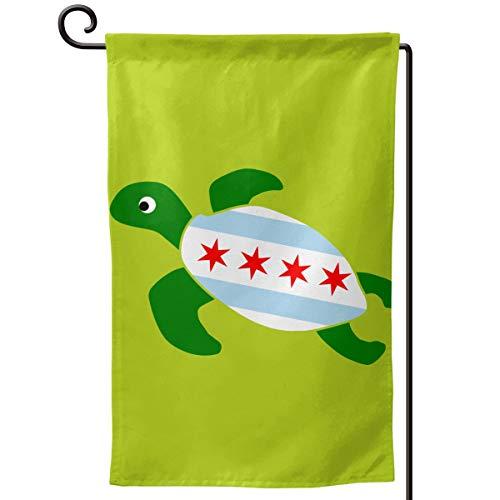 Sea Turtle Chicago Flag Fashion Outdoor/Home Garden Flag Wedding Anniversary Garden Flag 12.5