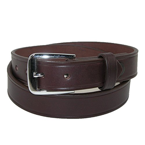 - Boston Leather Men's Leather 1 1/4 inch Sports Officials Belt, 40, Brown