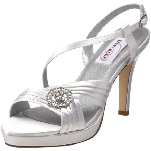 Womens Jocelyn Platform Sandal (Dyeables Women's Jocelyn Platform Sandal, White, 8 M US)