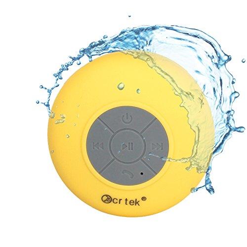 KCRTEK Portable Wireless Shower Room Speaker,waterproof blue
