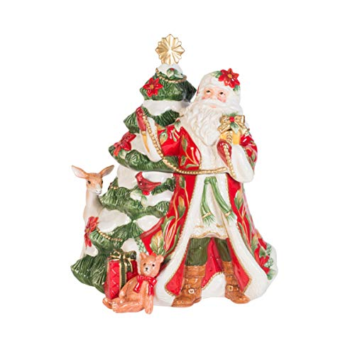 Fitz and Floyd 49-751 Cardinal Christmas Figural Cookie Jar 3-Quart Holiday Red