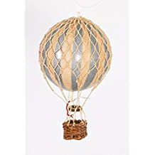 "Authentic Models Holiday Hot Air Balloon Decoration (3.25"", Silver and Ivory)"