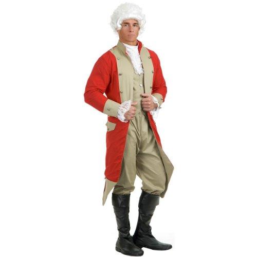 Charades Men's British Red Coat Costume Set, Red/Tan, (80's Era Costumes)