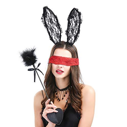 Zoylink 5PCS Lace Headband Set Rabbit Ear Headband with Choker Fairy Wand by Zoylink
