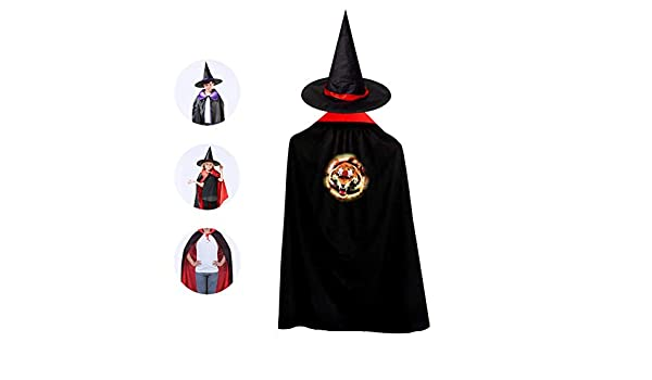 9f837443737 Amazon.com  Kids Fire Tiger Face Halloween Costume Cloak for Children Girls  Boys Cloak and Witch Wizard Hat for Boys Girls Red  Office Products
