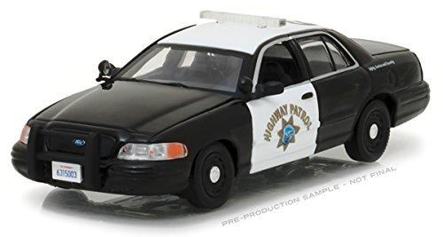 Ford Crown Victoria Police Interceptor Car California Highway Patrol (CHP) 1/43 Diecast Model Car Greenlight (Diecast Car Highway)
