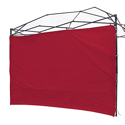 NINAT Canopy Sidewalls 10 ft Sunshade Privacy Panel for Gazebos Tent Waterproof,Red