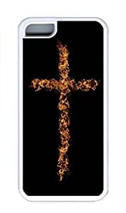 iPhone 5C Case, Personalized Custom Rubber TPU White Case for iphone 5C - Cross Fire Cover