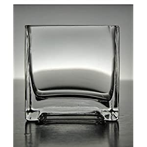 Wayhome Fair Clear Glass Square Vase & Candleholder 3 x 3 Set of 6 - Excellent Home Decor - Indoor & Outdoor 3