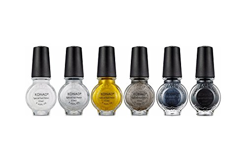 Konad Nail Art Stamping Polish 11ml - Set of 6 (BRILLIANT SET)