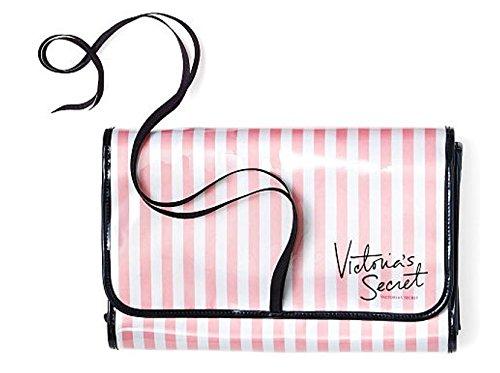 01836313966 Amazon.com : Victoria's Secret Large Pink Stripe Folding Cosmetic Travel Bag  : Beauty