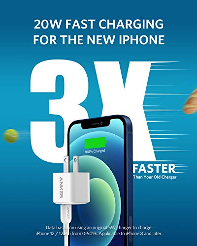 USB C Charger, Anker Nano Charger PIQ 3.0 Durable Compact Fast Charger, PowerPort III for iPhone 13/13 Mini/13 Pro/13 Pro Max/12, Galaxy, Pixel 4/3, iPad/ iPad mini (Cable Not Included)