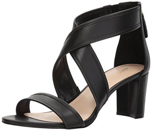 Sandalias negro en Nine cuero de West tacón para Pearlita cuero de mujer rqUPwxr