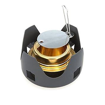 JWBOSS Alcohol Mini Portátil hornilla del Alcohol Horno de la Estufa para Acampar al Aire Libre con Mochila de senderism: Amazon.es: Deportes y aire libre