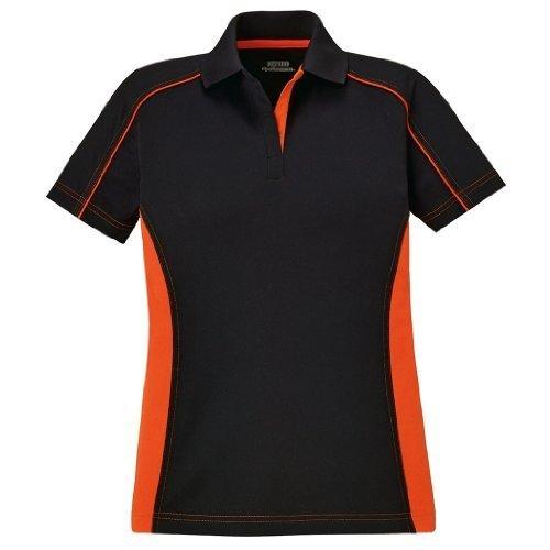 Ash City Ladies Fuse Extreme Performance Polo (Small, Black/Orange) by Ash City Apparel