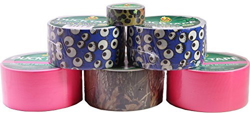 Duck Duct Tape Assorted Set, Includes 6 Printed Rolls, Great for Crafting by Duck