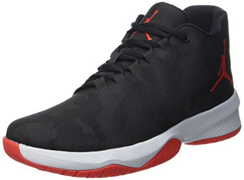 NIKE Men's Air Jordan B Fly Black/University Red-Wolf Grey 881444-006 Shoe 12 M US Men