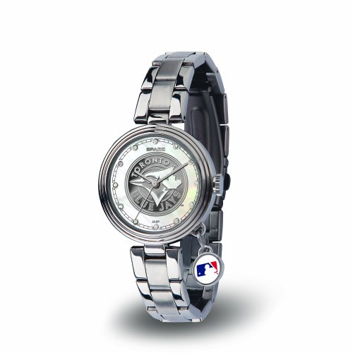 Pearl Blue Toronto (MLB Toronto Blue Jays Charm Watch, Silver)