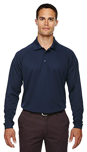 Ash City - Extreme Extreme Eperformance Men's Long-Sleeve Piqué Polo, XL, Classic Navy 849