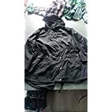 Waterproof Raincoats Outdoor Hooded Lightweight Rain Jacket Windbreaker Black S