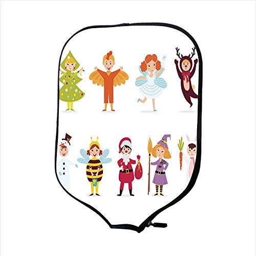 Neoprene Pickleball Paddle Racket Cover Case/Cute Kids Wearing Costumes Vector/Fit for Most Rackets - Protect Your Paddle]()