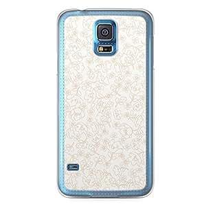 Floral Samsung Galaxy S5 Transparent Edge Case - White Linear