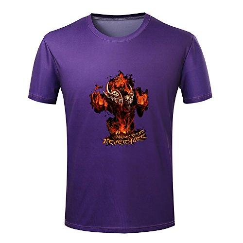 Warcraft Dota Shadow fiend Multiplayer Online Battle Arena Game peripheral T-shirt XXXX-Large Purple (Arena Warcraft)
