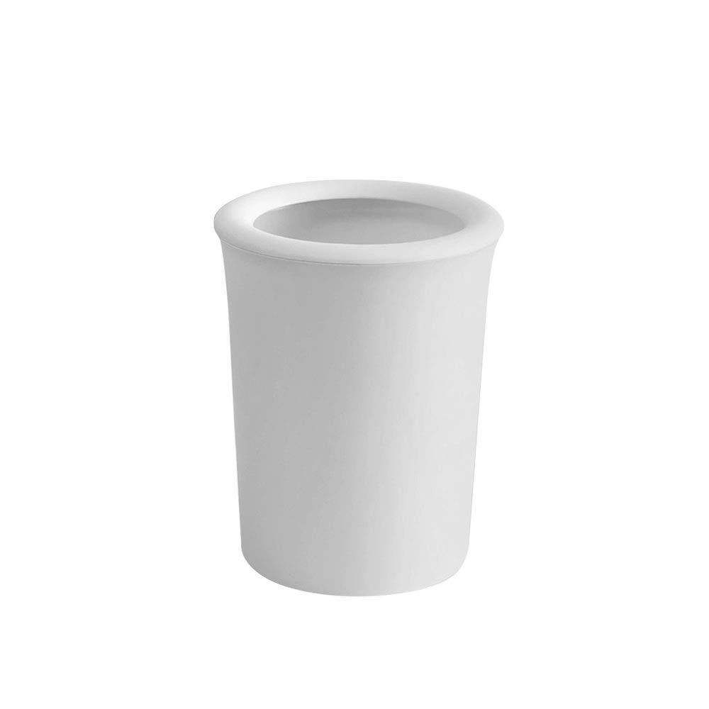 XXLJT Poubelle Maison Salon Cuisine Poubelle Salle de bain Panier de papier léger Chambre à coucher Anneau de pression Poubelle (Color : White)