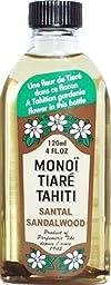 Monoi Tiare Tahiti Santal Sandalwood Coconut Oil -- 4 fl oz