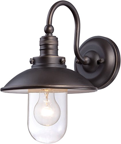 Minka Lavery Farmhouse Outdoor Wall Light 71163-143C Downtown Edison Exterior Wall Lantern, 75 Watts, Bronze