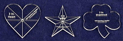 -3 Piece Sampler Pack B - Star, Heart, Shamrock 1/4