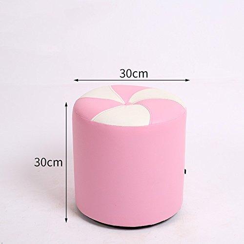 Pink 30cm STJK BMJW Footstool Stool Stool Stool Stool Stool Door Stool Small Stool bluee 30Cm