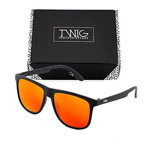 Negro MAGRITTE TWIG de sol Naranja Gafas degradadas espejo mujer hombre Rx87qwt