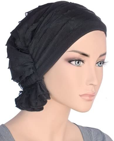 Turban Plus The Abbey Cap in Ruffle Fabric Chemo Caps Cancer Hats for Women bfcb94c99d48