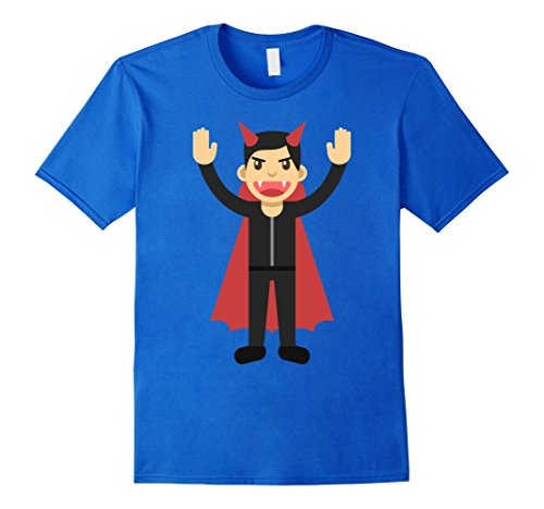 Mens Funny Smiley Halloween Dracula Costumes T-shirt Horror Night Large Royal (Smiley Costume Horror)